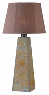 Kenroy Home 32224SL Sleek 30 Inch Tall Natural Stale Finish Table Top Lamp