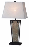 Kenroy Home 32227SL Free Fall Transitional Style Natural Slate 30 Inch Tall Table Lamp