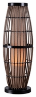 Kenroy Home 32247RAT Biscayne 31 Inch Tall Rattan Finish Bed Lamp