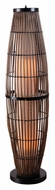 Kenroy Home 32248RAT Biscayne Wet-Rated Rattan Finish 51 Inch Tall Tower Floor Lamp