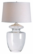 Kenroy Home 32260CLR Apothecary 30 Inch Tall Clear Glass Lamp