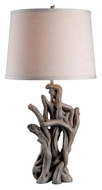 Kenroy Home 32266DW Cast Away 29 Inch Tall Driftwood Living Room Table Lamp
