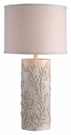 Kenroy Home 32267AWH Reef Antique White 30 Inch Tall Drum Shade Lamp