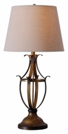 Kenroy Home 32275AGC Nicolas Aged Golden Bronze 30 Inch Tall Antique Table Lamp