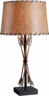 Kenroy Home 32557ATW Bound Arrow Antique Wash Table Top Lamp