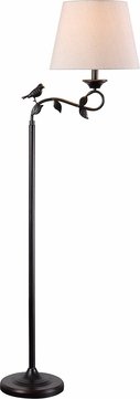 Kenroy Home 32613ORB Birdsong Country Oil Rubbed Bronze with Gold Highlights Lighting Floor Lamp