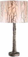 Kenroy Home 32656ASIL Fleetwood Rustic Antique Silver Side Table Lamp