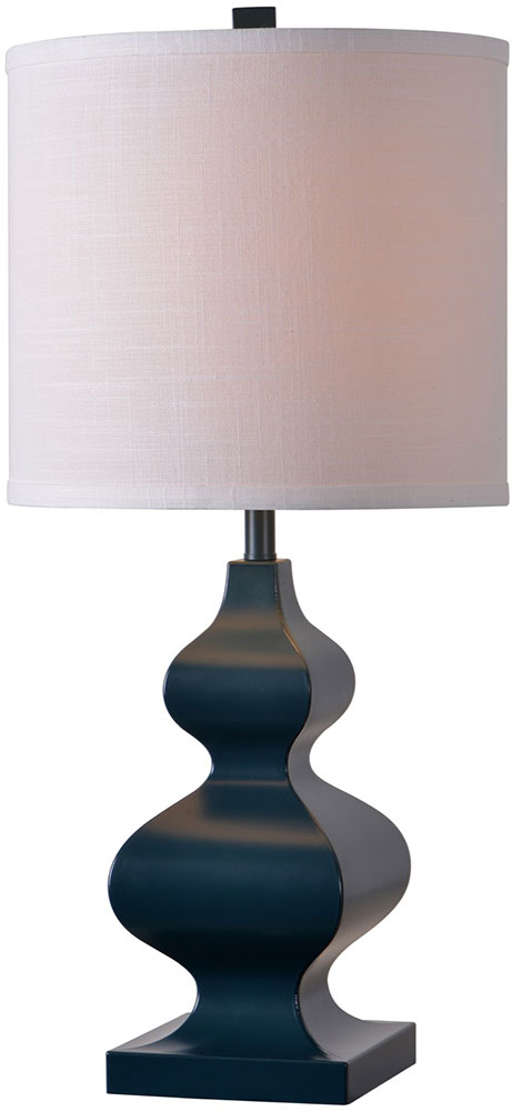 Kenroy Home 32908dblu Milton Dark Blue Table Lamp Loading Zoom
