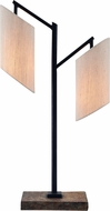 Kenroy Home 32996SLORB Solomon Contemporary Slate and Oil Rubbed Bronze Side Table Lamp