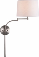 Kenroy Home 33039BS Seven Brushed Steel Swing Arm Wall Light