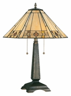 Kenroy Home 33040BRZ Willow Tiffany Style Bronze Finish 24 Inch Tall Table Lamp