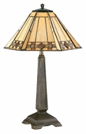 Kenroy Home 33041BRZ Willow Bronze 20 Inch Tall Tiffany Table Top Lamp