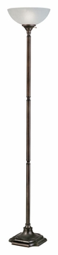 Kenroy Home 33053BBZ Wentworth 72 Inch Tall Burnished Bronze Finish Torchiere Lamp