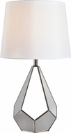 Kenroy Home 33188SS Gemma Contemporary Stainless Steel Table Lighting