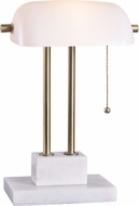 Kenroy Home 33287AB Symphony Antique Brass Fnish with Marble Base Study Lamp