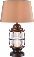 Kenroy Home 35227ORB Beacon Contemporary Oil Rubbed Bronze LED Exterior Table Light