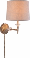 Kenroy Home 35321SG Everest Silvered Gold with Glass Accents Sconce Lighting