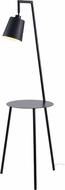 Kenroy Home 35343BLMTL Obsidian Contemporary Black and Black Metal Shade Lighting Floor Lamp