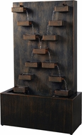 Kenroy Home 50085 Kris Contemporary Mixed Black and Gold Exterior Floor Fountain