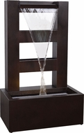 Kenroy Home 50086 Repose Contemporary Dark Rust LED Outdoor Floor Fountain
