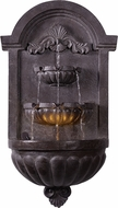 Kenroy Home 51011PLBZ San Pablo Traditional Plum Bronze LED Exterior Wall Fountain