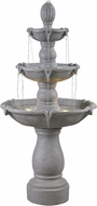 Kenroy Home 51012CON Plantation Traditional Concrete LED Outdoor Floor Fountain