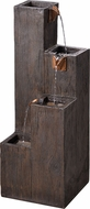 Kenroy Home 51017WDG Lincoln Contemporary Wood Grain Interior / Exterior Tiered Fountain