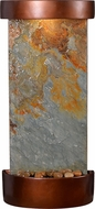 Kenroy Home 51027SLCOP Riverbed Contemporary Slate and Copper LED Exterior Table/Wall Fountain