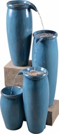 Kenroy Home 51029BLU Vessel Contemporary Textured Blue Tiered Fountain