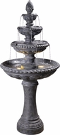 Kenroy Home 51030ZC Tucson Traditional Zinc LED Outdoor Floor Fountain