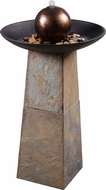 Kenroy Home 51037SL Orb Contemporary Slate Floor Fountain