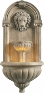 Kenroy Home 51043SNDST Royal Traditional Sandstone LED Outdoor Wall Fountain