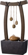 Kenroy Home 51047WDG Reflection Contemporary Wood Grain Tabletop Fountain