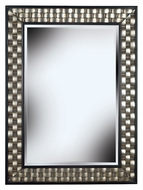 Kenroy Home 60013 Checker Modern Brushed Silver Rectangular Wall Mirror - 38 Inches Tall