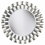 Kenroy Home 60019 Gilbert 36 Inch Diameter Transitional Silver Finish Wall Mounted Mirror