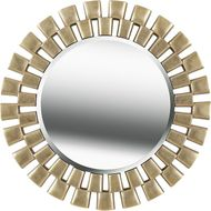 Kenroy Home 60019AB Gilbert Antique Brass Wall Mounted Mirror