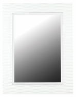 Kenroy Home 60024 Kendrick Transitional Gloss White Finish 39 Inch Tall Wall Mounted Mirror