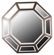 Kenroy Home 60034 Saunders 30 Inch Tall Antique Bronze Finish Octagonal Mirror