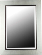 Kenroy Home 60039 Dolores Modern Silver with Black Trim Accent Wall Mirror