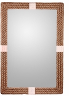 Kenroy Home 60207 Roy Natural Rope with Canvas Stripe Wall Mirror