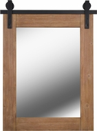 Kenroy Home 60222WDG Lacey Country Medium Wood and Matte Black Metal Wall Mirror