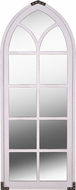 Kenroy Home 60223WHVM Century Traditional Distressed White and Vintage Metal Accents Wall Mirror