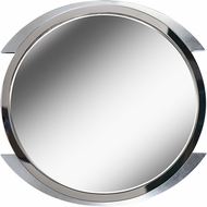Kenroy Home 60234 Maiar Modern Brushed Steel with Accent Chrome Ring Wall Mirror