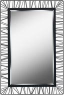Kenroy Home 60239 Wireframe Contemporary Black Wall Mirror