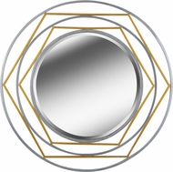 Kenroy Home 60241 Silas Modern Gold and Silver Mirror