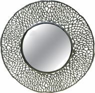 Kenroy Home 60255SIL Adella Contemporary Silver Wall Mirror