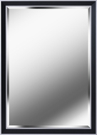 Kenroy Home 60327 Beau Black with Polished Silver Wall Mirror