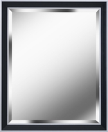 Kenroy Home 60328 Beau Black with Polished Silver Wall Mounted Mirror