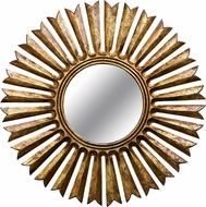 Kenroy Home 60436 Sunray Contemporary Antique Gold Wall Mirror