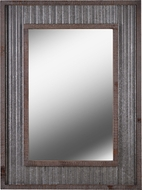 Kenroy Home 60442 Westbend Rustic Galvanized and Distressed Wood Wall Mirror
